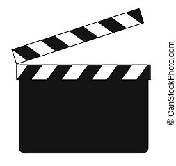 Blank clapboard illustration isolated on white background