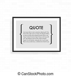 Realistic frame on light grunge brick wall. Perfect for your presentations. frame for your projects.