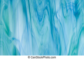 Blue green streaky glass - Blue-Green streaky glass
