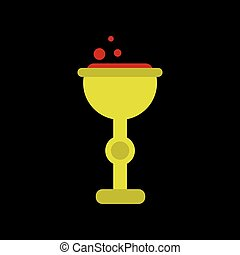 flat icon on background of cup potion - flat icon on stylish...
