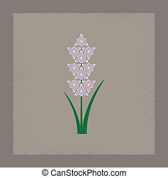 flat shading style illustration gladiolus - flat shading...