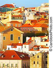 Lisbon Alfama architecture, Portugal - Alfama district - the...