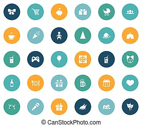 Vector Illustration Set Of Simple Holiday Icons. Elements Morning Coffee, Infant, Gift And Other Synonyms Tent, Fizz And Tea.