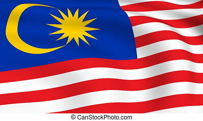 Flying Flag of MALAYSIA | LOOPED |