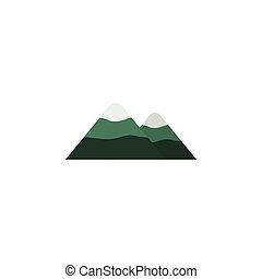 Isolated Mountain Flat Icon. Peak Vector Element Can Be Used...