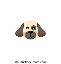 Isolated Dog Flat Icon. Puppy Vector Element Can Be Used For Dog, Puppy, Hound Design Concept.