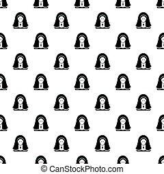 Nun pattern seamless - Nun pattern in cartoon style....