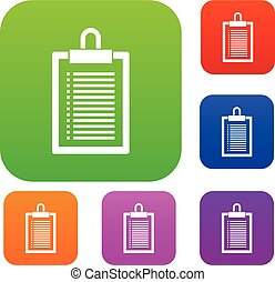 Document plan set collection - Document plan set icon in...
