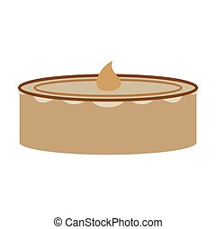 Sweet dessert in flat design Cheesecake