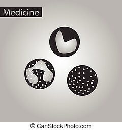 black and white style icon of leukocyte