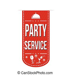 Party service banner design on white background, vector...