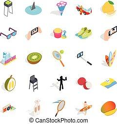 Joy icons set, isometric style