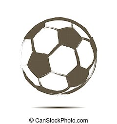 Soccer ball icon. Isolate on white background. Grunge style....
