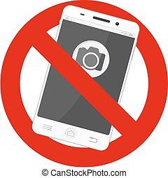 no mobile photos - not allowed mobile photos sign
