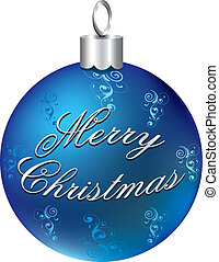 Shiny Blue Silver Ornament