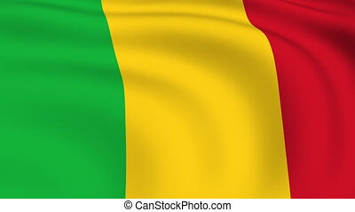 Flying Flag of MALI | LOOPED |