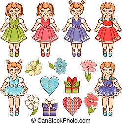 Baby Doll. Colorful set