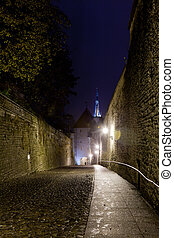 Walk to Toompea - Luhike street leads to the old town of...
