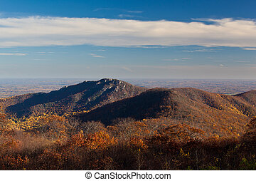 Old Rag in Virginia in fall - View of Old Rag in Shenandoah...