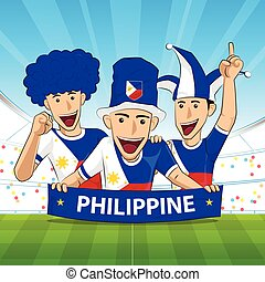 Philippine Flag soccer support - Philippine Flag. Cheer...