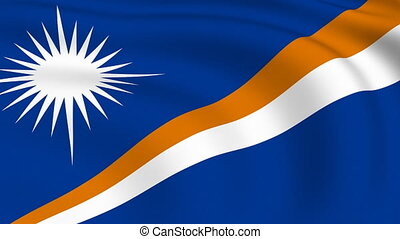 Flying Flag of MARSHALL ISLANDS | LOOPED |