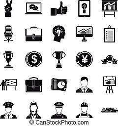 Principal icons set, simple style - Principal icons set....