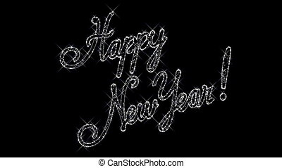 Happy New Year background - Sparkling inscription Happy New...