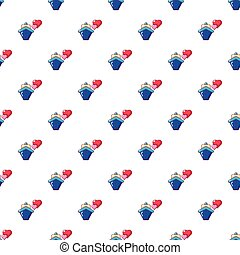 Travel journey honeymoon trip pattern seamless