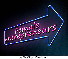 Female entrepreneurs concept. - 3d Illustration depicting an...