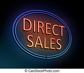 Direct sales concept. - 3d Illustration depicting an...