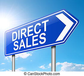 Direct sales concept. - 3d Illustration depicting a sign...