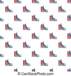 Sneakers hipster shoes pattern seamless