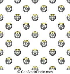 Car disk brake pattern seamless - Car disk brake pattern in...