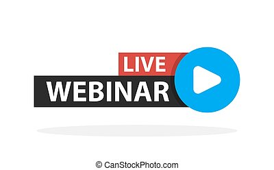 Free webinar play online button vector illustration.
