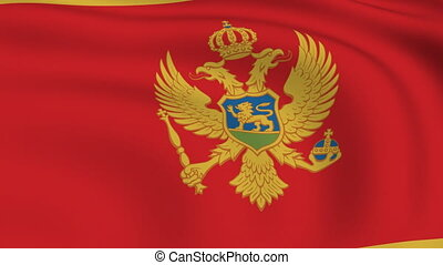 Flying Flag of MONTENEGRO | LOOPED |