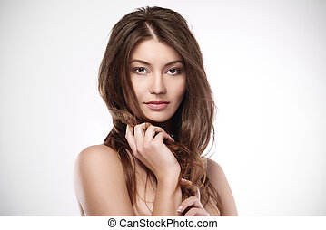 Beautiful natural woman with amazing hair