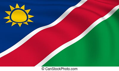 Flying Flag of NAMIBIA | LOOPED |