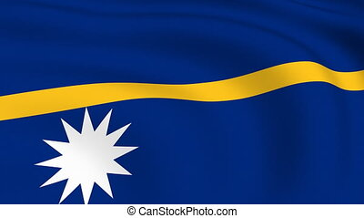 Flying Flag of NAURU | LOOPED |