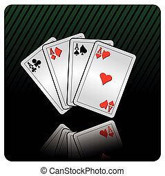 cards - casino illustration with cards