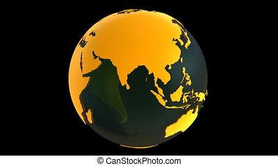 Yellow Earth Globe