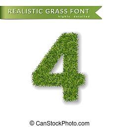 green grass number