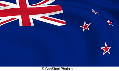 Flying Flag of NEW ZEALAND | LOOPED |