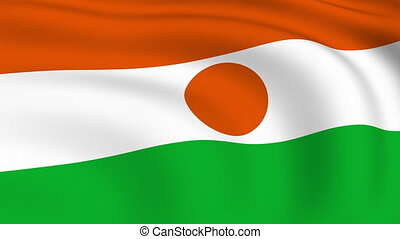 Flying Flag of NIGER | LOOPED |