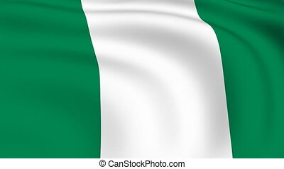 Flying Flag of NIGERIA | LOOPED |