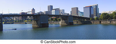The Morrison bridge Portland OR. - The Morrison bridge...