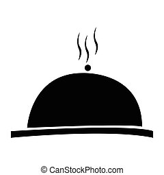 Isolated cloche silhouette on a white background, vector...