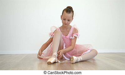 Ballerina In Pink Dress - Little Ballerina In Pink Dress And...