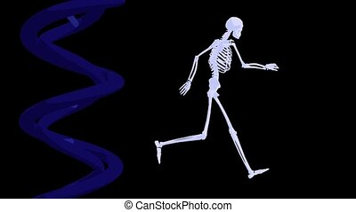 DNA and Skeleton running - DNA Skeleton running