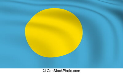 Flying Flag of PALAU | LOOPED |