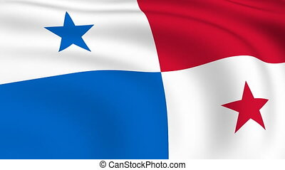 Flying Flag of PANAMA | LOOPED |